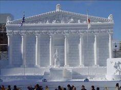 Lake Placid Snow Sculptures