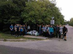 csoportkép a Sashalmi erdőnél