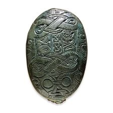 British Museum - Oval Viking brooch - Northern Germanic, late 7th-early 8th century AD  Said to be from a grave at Tromsø, Norway, possibly more closely located on the islet of Tussøya