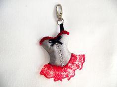 Porte-clés /Bijou de sac bustier corset sexy : Porte clés par dady-creation