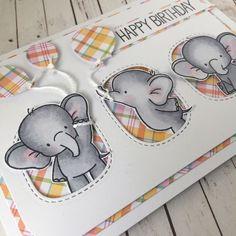 Adorable elephants #cardsncraftshop