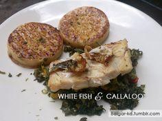 Home Cooked Dished, White Fish and Callaloo - The Blog of One Balgar-ka.tumblr.com
