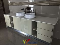 Kitchen, bathroom, built-in cupboards and vanities installer and manufacturer. Built In Cupboards, Kitchen Installation, Stylish Kitchen, Paint Colors For Living Room, Office Walls, Design Consultant, Vanities, Ui Design, Double Vanity