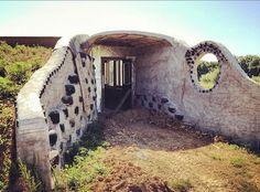 Beautiful entryway for an Earthship