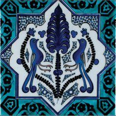 Anikya Mimari - Duvar Çinisi - K014 Slab Pottery, Ceramic Pottery, Ceramic Art, Turkish Tiles, Portuguese Tiles, Moroccan Tiles, Sculpture Clay, Ceramic Sculptures, Animal Sculptures