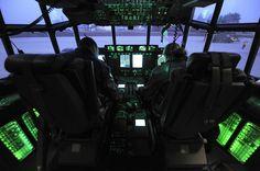 Lockheed C-130J Hercules Flight Deck