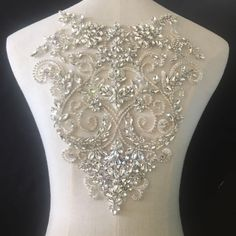 Cheap bridal beaded appliques, Buy Quality beaded bridal appliques directly from China bridal applique Suppliers: Pure Hand Made Clear Crystal Rhinestone Beaded Bridal Bodice Applique for Wedding Belt Bridal Sash ,Haute Couture Aceessories