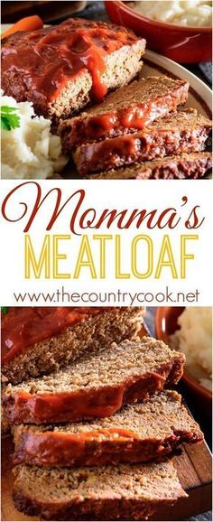Momma's *BEST* Meatloaf. Moist, flavorful and delicious. This recipe makes making and eating meatloaf fun! #juicymeatloafrecipes