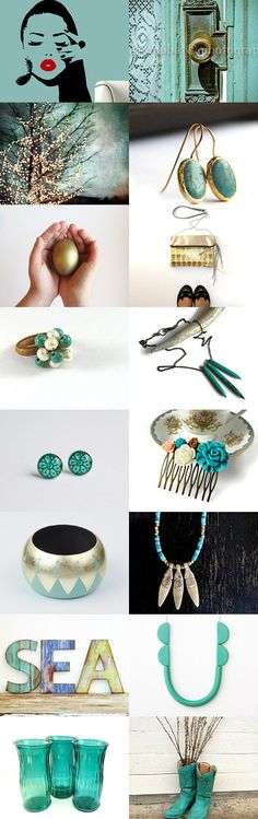 Some magic in turquoise by Elinor Levin on Etsy--Pinned with TreasuryPin.com