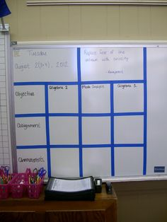 Math = Love: My Classroom is Done!  Great way to keep 3 different math classes organized