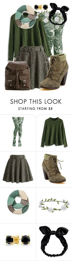 """""""-floral tights-"""" by artistic-biscuit ❤ liked on Polyvore featuring Chicwish, Michael Antonio, Accessorize, Bling Jewelry, Boohoo, Mix No. 6, sweet, GREEN, floralprint and sweaterweather"""
