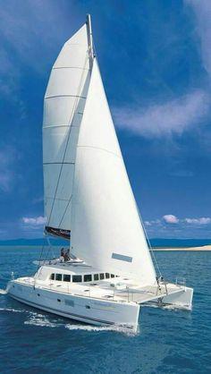☼ Life by the sea, white yacht blue ocean sunshine vacation Catamaran Design, Sailing Catamaran, Yacht Boat, Sailing Ships, Sail Away, Motor Yacht, Antibes, Set Sail, Luxury Yachts