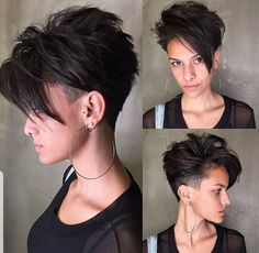 The undercut hairstyle is back for The look is everywhere right now, and we can see why. We've collected the best undercut designs for badass women. Undercut Hairstyles Women, Short Hair Undercut, Undercut Women, Shaved Hairstyles, Fashion Hairstyles, Pixie Haircuts, Short Undercut Hairstyles, Pixie Haircut Styles, Men's Hairstyle