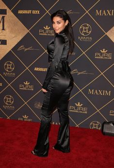 Chantel Jeffries – Maxim Hot 100 Party in Los Angeles - Celebrity Nude Leaked! Black Wide Leg Trousers, Chantel Jeffries, Satin Jumpsuit, Hottest 100, Satin Blouses, Club, Silk Satin, Beautiful Pictures, Leather Pants
