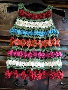 Crochet Flowers Top