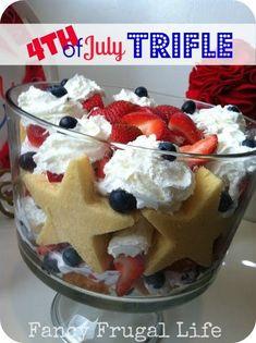 of july trifle recipe trifle cake, fruit trifle, blueberry Trifle Cake, Trifle Desserts, Trifle Recipe, Dessert Recipes, Fruit Trifle, Cheesecake Cake, Fruit Dessert, 4th Of July Desserts, Fourth Of July Food