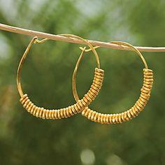 Giriama Hoop Earrings   National Geographic Store