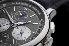 A. Lange & Söhne introduces the Triple Split. The world's first mechanical chronograph that allows multi-hour comparative time measurements, and also happens to be equipped with a precisely jumping minute counter and a triple-flyback mechanism #SIHH2018.