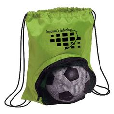 "Striker Drawstring Backpack - 17.5""H x 14""W #8160 #drawstringbags #drawstring #bags #backpack #ballbag"