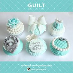 Tiffany Cupcakes - Cake by guiltdesserts