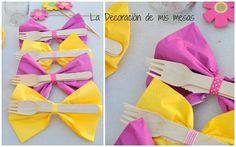 Presentar las servilletas de forma original