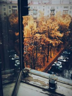// This photo makes me happy. I love the colors and the feeling of being inside and having nothing to do on a rainy day.