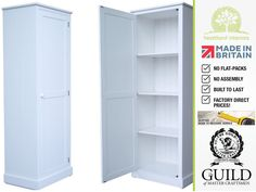 Contemporary 1 Door Painted Large Kitchen, Pantry, Hallway Storage Cupboard CUP115