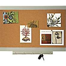 When using a bulletin board to display things tuck it out of view from main door.Don't make it a focal point with so many items making the room appear cluttered.  Quartet® Envi Bulletin Board, 17in. x 23in.