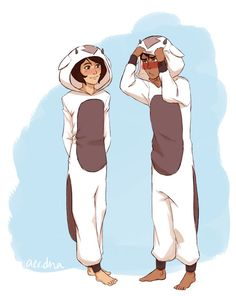 Jinora and Kai in Air bison kigues!