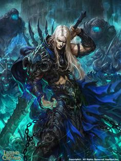 Artist: Sung-ryun Park aka waterlon - Title: King of the Death Soldiers - Card: Wenceslas the Lifeseeker (Warpath)