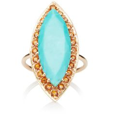 Andrea Fohrman Turquoise Marquis With Spessartite Ring