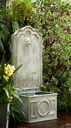 Our Lowe Fountain brings the soothing sounds of cascading water to garden retreats. | Frontgate: Live Beautifully Outdoors
