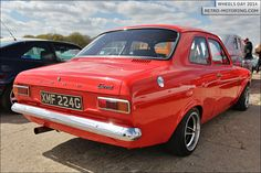 Red Ford Escort : Retro and classic car gift ideas for . Escort Mk1, Ford Escort, Ford Rs, Car Ford, Ford Motor Company, Ford Zephyr, Ford Motorsport, Fiat 600, American Auto