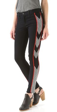Embroidered Chevron Jeans. Rag & Bone. Yes please.