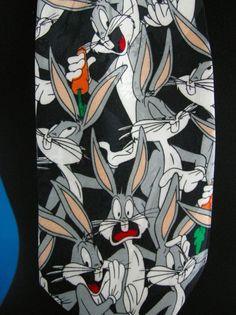 Bugs Bunny Looney Tunes Tie Necktie Funny Humor Multicolor Cartoon Father's Day #LooneyTunes #Tie