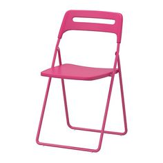 Nisse folding chair by Ikea in hot pink