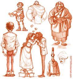 DATTARAJ KAMAT Animation art: Character designs...