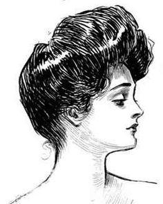 1901 womens fashion-Gibson Girl hair