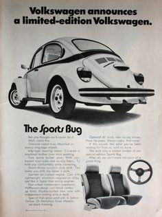 1973 VW Volkswagen Beetle Sports Bug Car Limited Edition Vintage Print Ad ETK128…