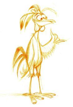 Cartoon Drawing Design Chicken Joe by Surf's up character Designer - Sylvain Deboissy - Character Design Cartoon, Character Design Animation, Character Design References, Character Drawing, Bird Drawings, Art Drawings Sketches, Cartoon Drawings, Animal Drawings, Cartoon Kunst