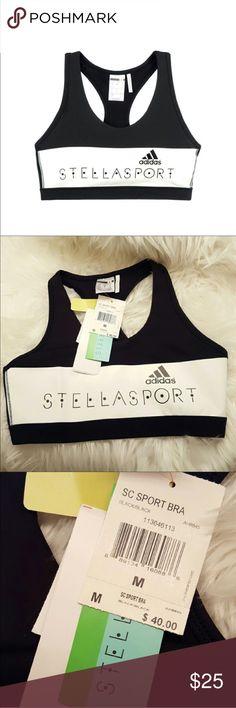 Stella McCartney for Adidas Sports Bra. Med. NWT NWT. Black/white. Size Med. Stella McCartney for Adidas Adidas by Stella McCartney Other