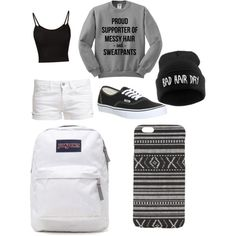 A fashion look from February 2015 featuring Le Temps Des Cerises shorts, Vans sneakers and JanSport backpacks. Browse and shop related looks.
