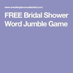 FREE Bridal Shower Word Jumble Game