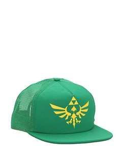e9dd8d37c80 Nintendo The Legend Of Zelda Skyward Triforce Snapback Trucker Hat