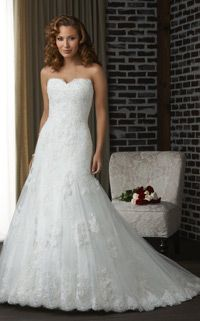 fav! $219   21bridal.com  A-line Organza Appliques Sweetheart Chapel Train Sleeveless wedding dress E16309