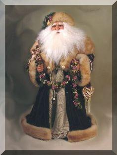 Victorian Santa, by Jill Zaperach Father Christmas, Christmas Love, Christmas Pictures, Christmas Holidays, Primitive Santa, Primitive Christmas, Vintage Santa Claus, Vintage Santas, Victorian Christmas