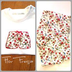 """Bóxer FLORFRESA, camiseta a conjunto bordada a mano, patchwork """" Little Candela"""""""