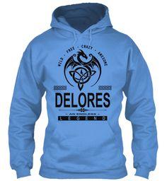 Delores An Endless Legend Carolina Blue Sweatshirt Front
