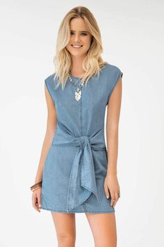 Day Dresses, Rompers, Denim, Outfits, Clothes, Fashion, Jean Skirts, Hale Navy, Short Blue Dresses