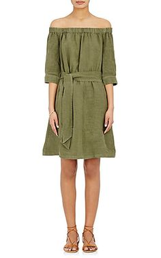 We Adore: The Linen Off-The-Shoulder Dress from FRAME at Barneys New York